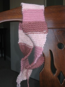 Pink streamer - until I ran out of remnant yarn.