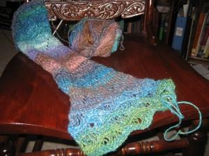 Noro Silk Garden scarfette