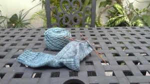 Progress on handknit child sized sock by irieknit in Sheepytime Knits handdyed yarn