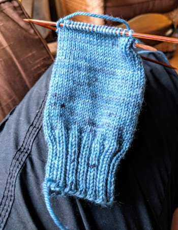 Knitting a child sized sock in Sheepytime Knits yarn by irieknit