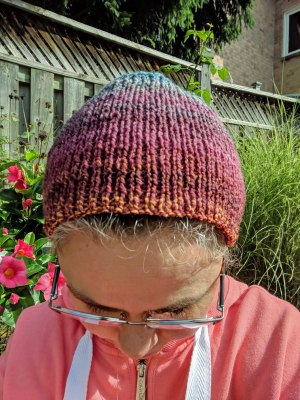 Handspun Targhee Calorimetry headband by irieknit top
